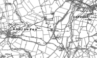 Old Map of Marsh Green, 1881
