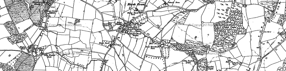 Old map of Allercombe in 1888