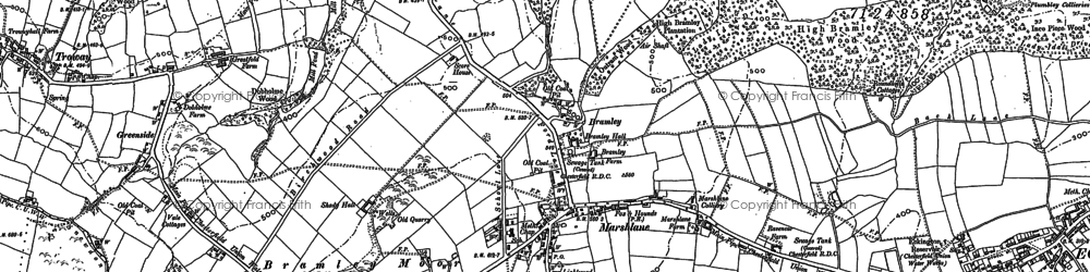 Old map of Marsh Lane in 1876