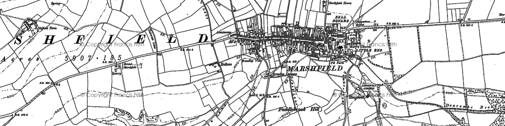 Old map of Marshfield in 1881