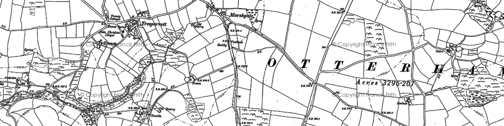 Old map of Marshgate in 1882