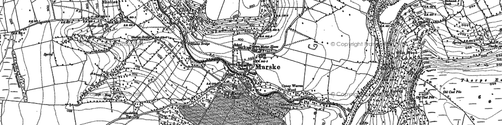 Old map of Marske in 1892