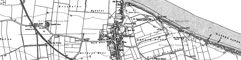Old map of Marske-By-The-Sea in 1913