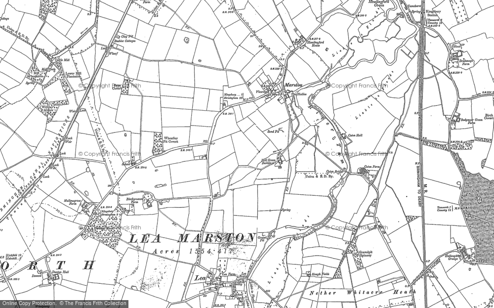 Old Map of Marston, 1886 - 1901 in 1886