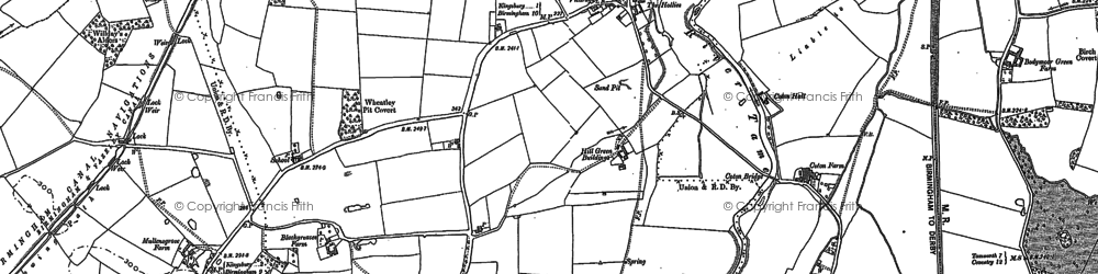Old map of Marston in 1886