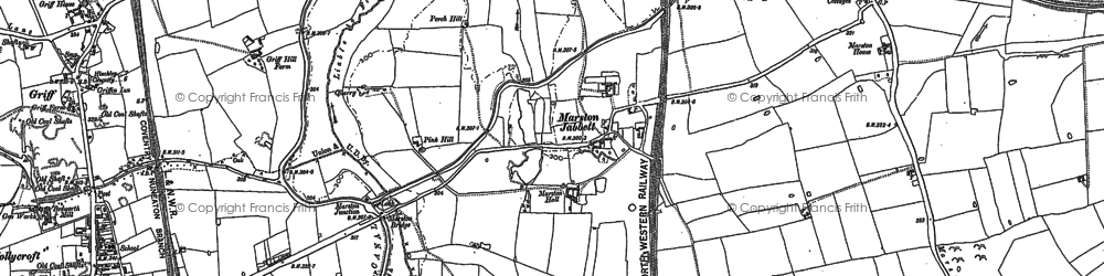 Old map of Whitestone in 1886