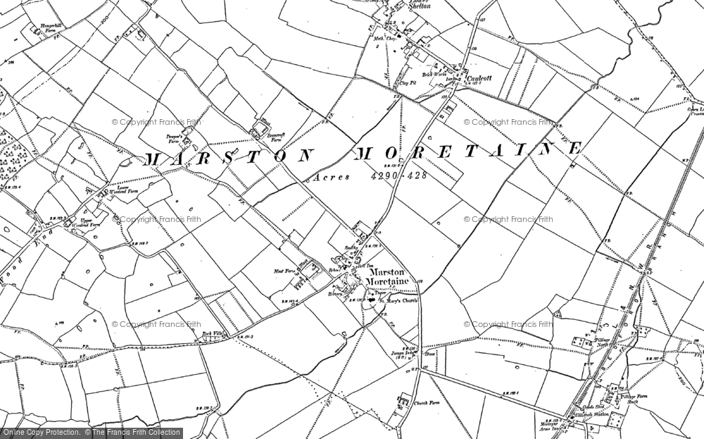 Old Map of Historic Map covering Wood End in 1882