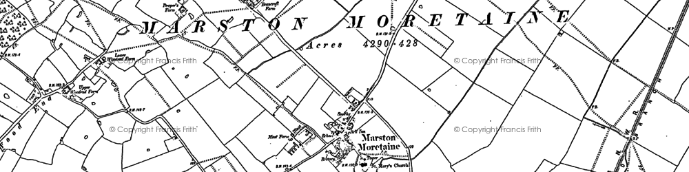 Old map of Caulcott in 1882
