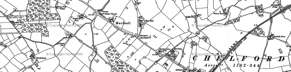 Old map of Baguley Fold in 1897