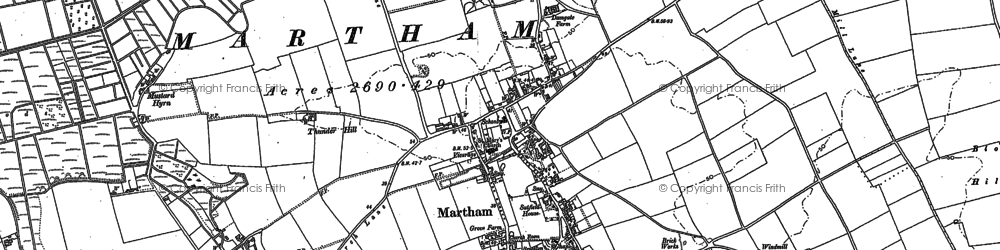 Old map of Martham in 1883