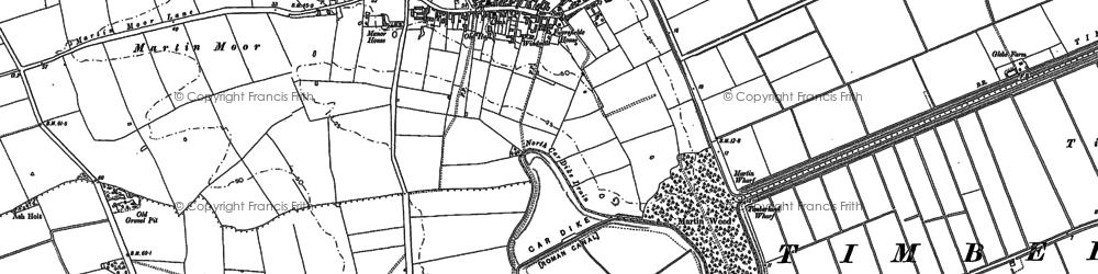 Old map of Linwood Moor in 1887