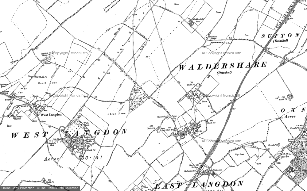 Old Map of Historic Map covering Appleton Manor in 1896