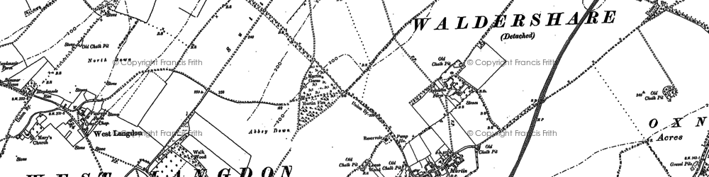 Old map of Appleton Manor in 1896