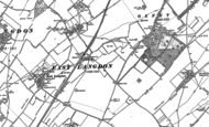 Old Map of Martin Mill, 1896 - 1906
