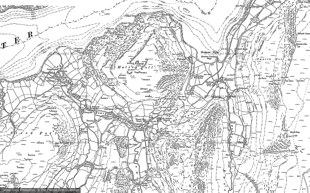 Old Map of Historic Map covering Aira Point in 1897