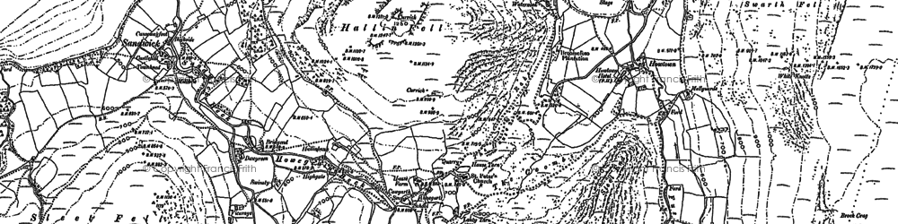 Old map of Winter Crag in 1897