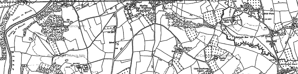 Old map of Willow Green in 1883