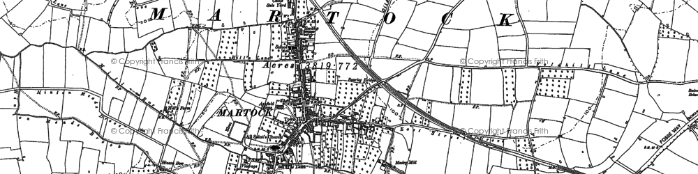 Old map of Martock in 1886