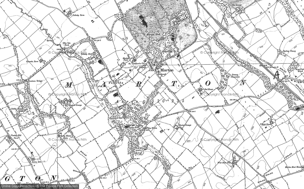 Old Map of Historic Map covering Tollesby in 1892