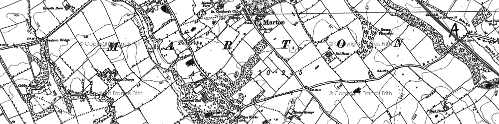 Old map of Easterside in 1892