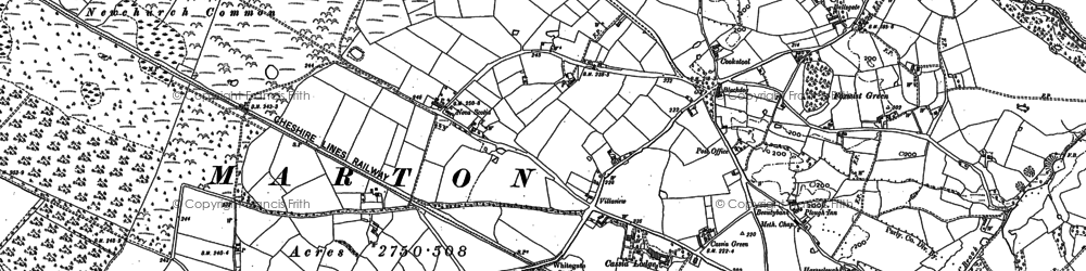 Old map of Whitegate Way in 1897