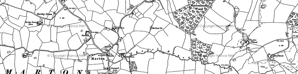 Old map of Tidnock Wood in 1897