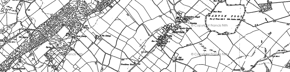 Old map of Aylesford Brook in 1901