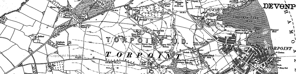 Old map of Maryfield in 1883