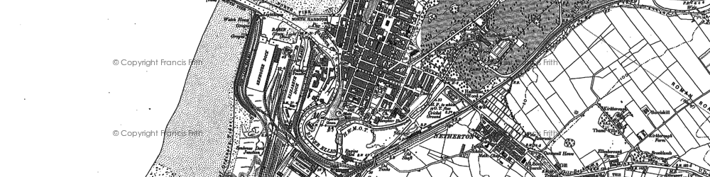 Old map of Maryport in 1923