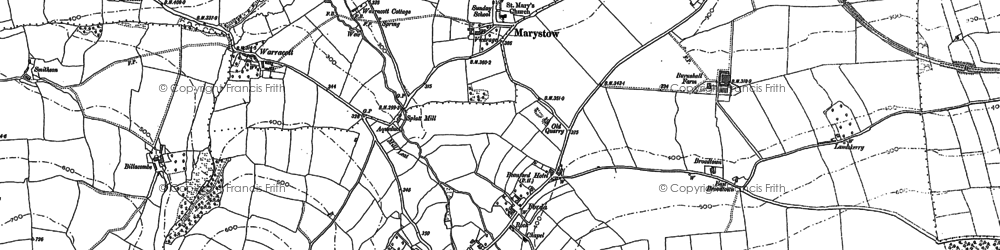 Old map of Lee Downs in 1882