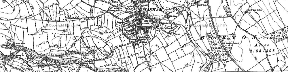 Old map of Whitwell in 1890