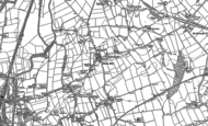 Old Map of Mastin Moor, 1876 - 1897