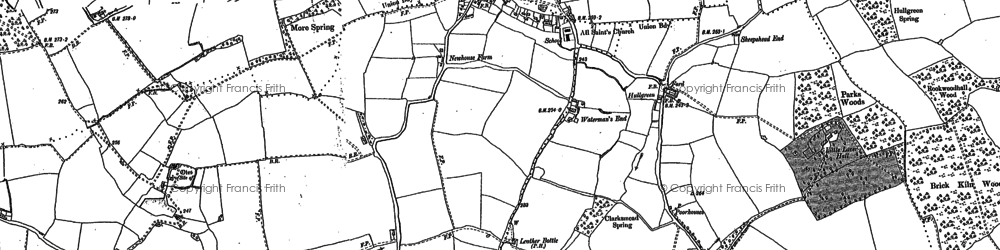 Old map of Matching Green in 1895