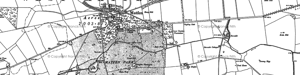 Old map of Whittington White Ho in 1895