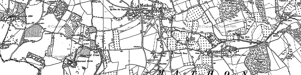 Old map of Lane End in 1903