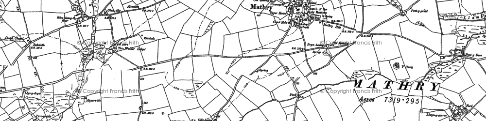 Old map of Y Craig in 1887