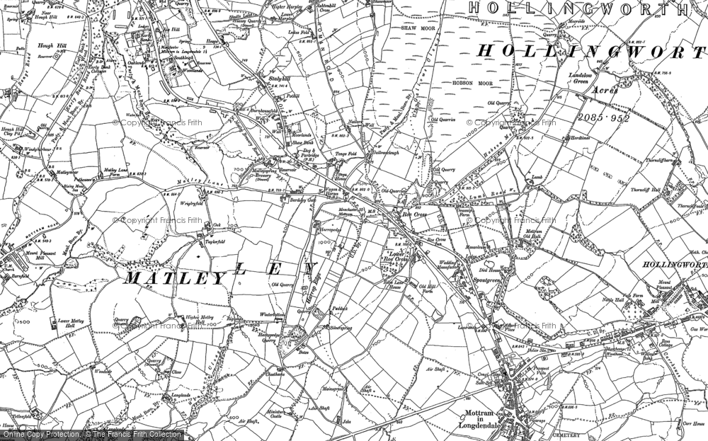 Old Map of Historic Map covering Woodlands in 1899