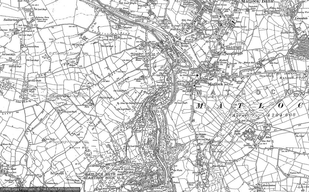 Map of Matlock, 1879 - 1898