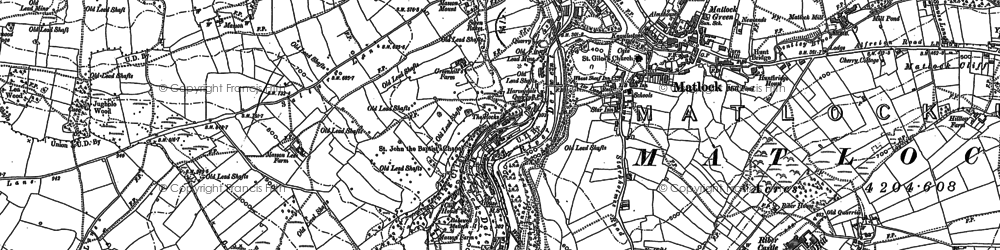 Old map of Matlock in 1879