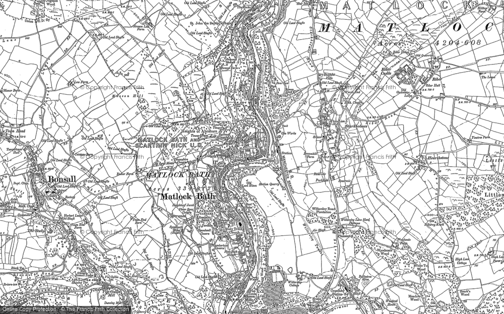 Old Map of Historic Map covering Wood End in 1878