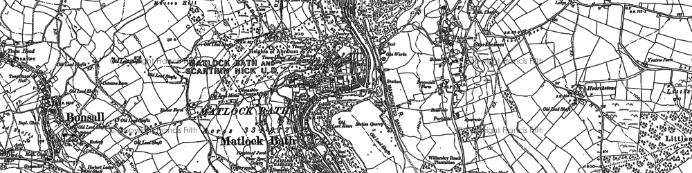 Old map of Matlock Bath in 1878