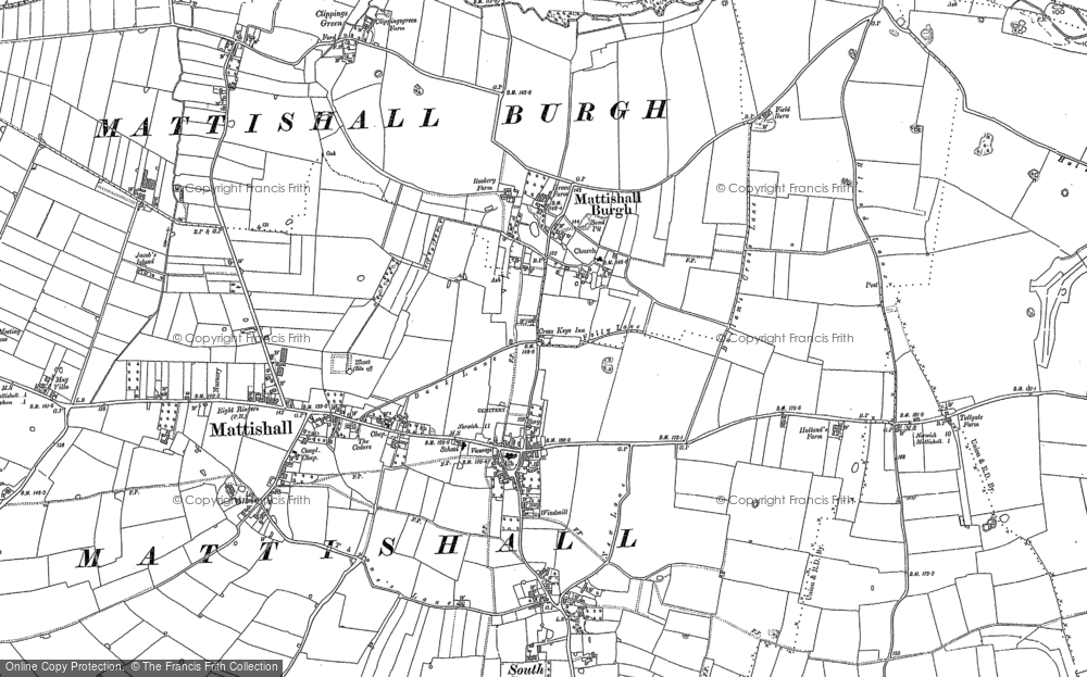 Old Map of Historic Map covering Norfolk in 1882