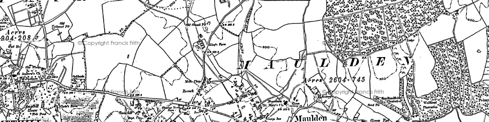 Old map of Green End in 1882