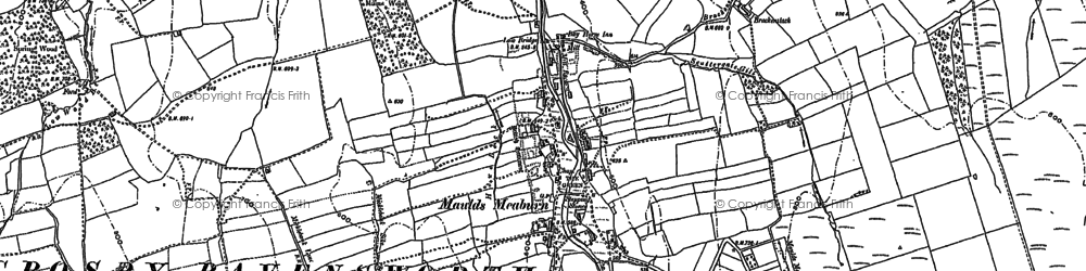 Old map of Lankaber in 1897