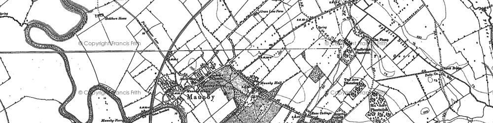 Old map of Allerthorpe Hall in 1891