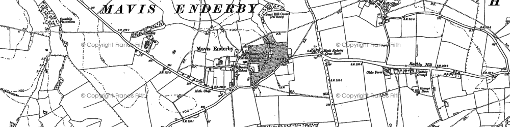 Old map of Wheelabout Wood in 1887