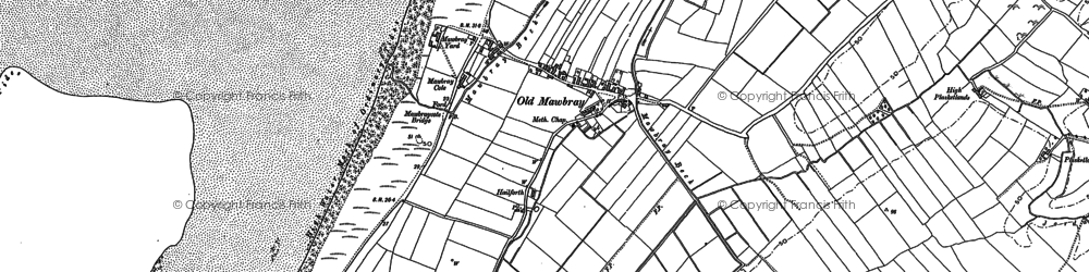 Old map of Allerdale Ramble in 1923