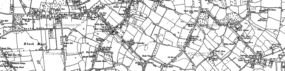 Old map of Black Moor in 1893