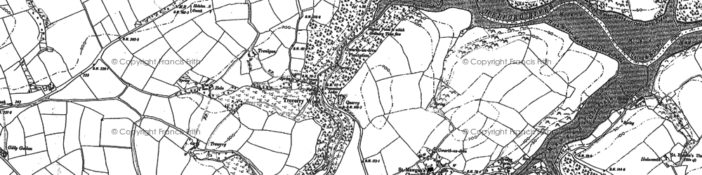 Old map of Rosevear in 1906