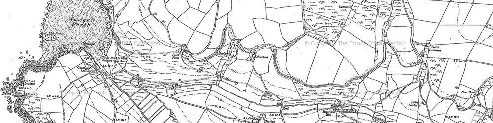 Old map of Mawgan Porth in 1880